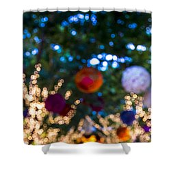 Colored Lights Shower Curtain by Susan Stone