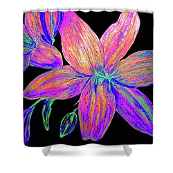 Colored Pencil Flower  Shower Curtain