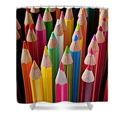 Colored Pencils Shower Curtain by Garry Gay