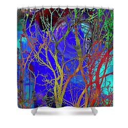 Shower Curtain featuring the photograph Colored Tree Branches by Susan Stone