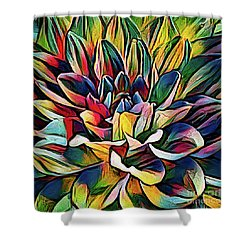 Colorful Abstract Dahlia Shower Curtain