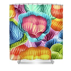 Colorful Abstract Flower Petals Shower Curtain