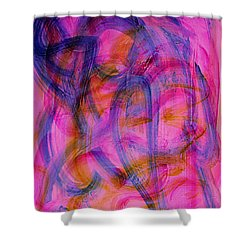Colorful Abstract Shower Curtain by Natalie Holland