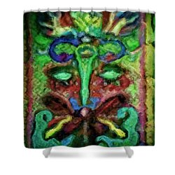 Colorful Abstract Painting Swirls And Dabs And Dots With Hidden Meaning And Secret Stories Of Birds  Shower Curtain by MendyZ