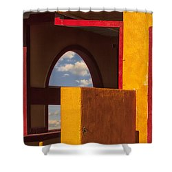 Colorful Adobe One Shower Curtain by Gary Warnimont