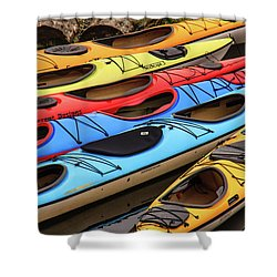 Colorful Alaska Kayaks Shower Curtain
