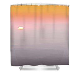 Colorful And Smoky Carolina Sunrise Shower Curtain
