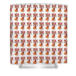 Shower Curtain featuring the painting Colorful Angel Pattern Illustration by Saribelle Rodriguez