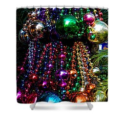 Colorful Baubles Shower Curtain by Christopher Holmes