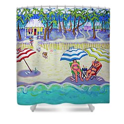 Colorful Beach Hideaway Shower Curtain