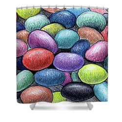 Colorful Beans Shower Curtain by Nancy Mueller