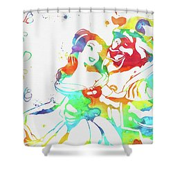 Colorful Beauty And Beast Shower Curtain