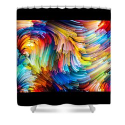 Shower Curtain featuring the painting Colorful Beauty by Karen Showell