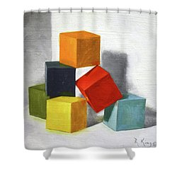 Colorful Blocks Shower Curtain