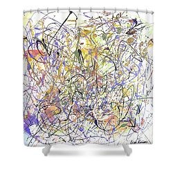 Colorful Blog Shower Curtain by Lisa Kaiser