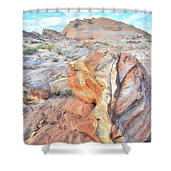 Colorful Boulder At Valley Of Fire Shower Curtain