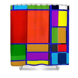 Colorful Boxes Shower Curtain