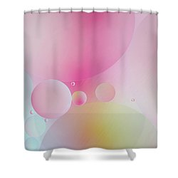 Shower Curtain featuring the photograph Colorful Bubbles by Elena Nosyreva