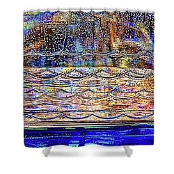 Colorful Bubbles In A Bottle Shower Curtain