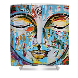 Colorful Buddha Shower Curtain