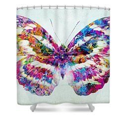 Colorful Butterfly Art Shower Curtain by Olga Hamilton