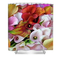 Colorful Calla Lilies Shower Curtain