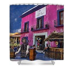 Colorful Cancun Shower Curtain by Douglas Barnard