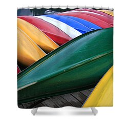 Colorful Canoes Shower Curtain