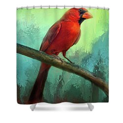 Colorful Cardinal Shower Curtain