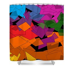 Colorful Chaos Two Shower Curtain by Val Arie