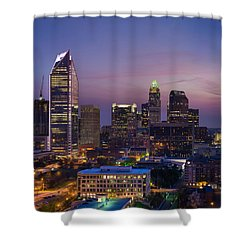 Colorful Charlotte Shower Curtain by Serge Skiba
