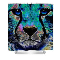 Colorful Cheetah Shower Curtain