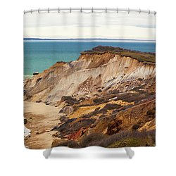 Colorful Clay Cliffs On The Vineyard Shower Curtain