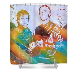 Colorful Coldplay Shower Curtain by Dan Sproul