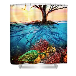 Shower Curtain featuring the photograph Colorful Coral Seas by Debra and Dave Vanderlaan