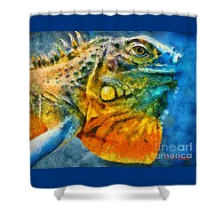 Colorful Creature  Shower Curtain by Elizabeth Coats