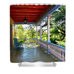 Colorful Creole Porch Shower Curtain by Carol Groenen