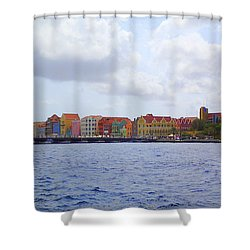 Colorful Curacao Shower Curtain by Lois Lepisto