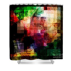 Shower Curtain featuring the photograph Colorful Currency Collage by Phil Perkins