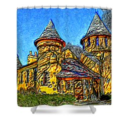 Colorful Curwood Castle Shower Curtain