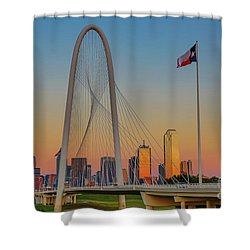 Colorful Dallas Sunset Shower Curtain by John Roberts