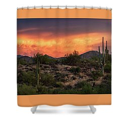 Shower Curtain featuring the photograph Colorful Desert Skies At Sunset  by Saija Lehtonen