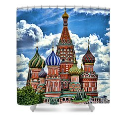 Colorful Domes Shower Curtain by Pravine Chester