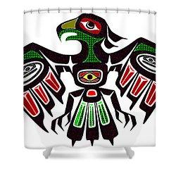 Colorful Eagle Symbol Shower Curtain