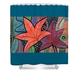 Colorful Fall Shower Curtain by Helena Tiainen
