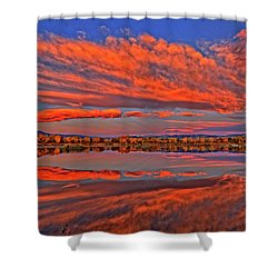 Shower Curtain featuring the photograph Colorful Fall Morning by Scott Mahon