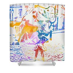 Colorful Fearless Girl Shower Curtain