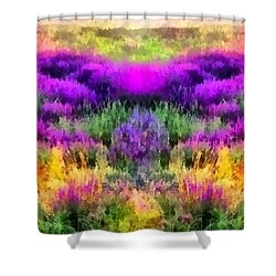 Colorful Field Of A Lavender Shower Curtain