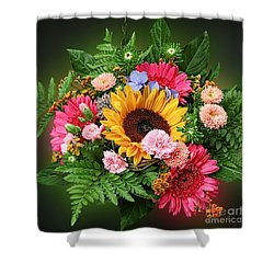 Colorful Flower Arrangement Shower Curtain