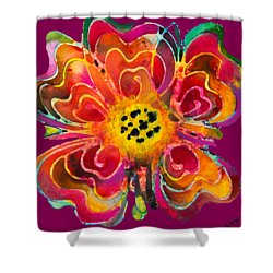 Shower Curtain featuring the painting Colorful Flower Art - Summer Love By Sharon Cummings by Sharon Cummings